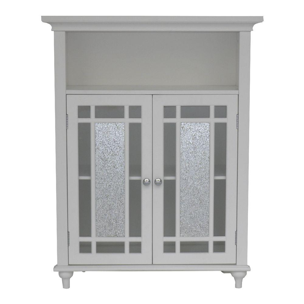 Magnificent Elegant Home Fashions Winfield 26 1 2 In W X 34 In H X 12 In D 2 Door Bathroom Linen Storage Floor Cabinet In White Interior Design Ideas Clesiryabchikinfo