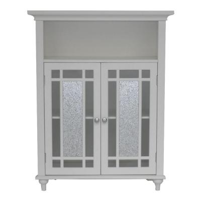 Winfield 26-1/2 in. W x 34 in. H x 12 in. D 2-Door Bathroom Linen Storage Floor Cabinet in White