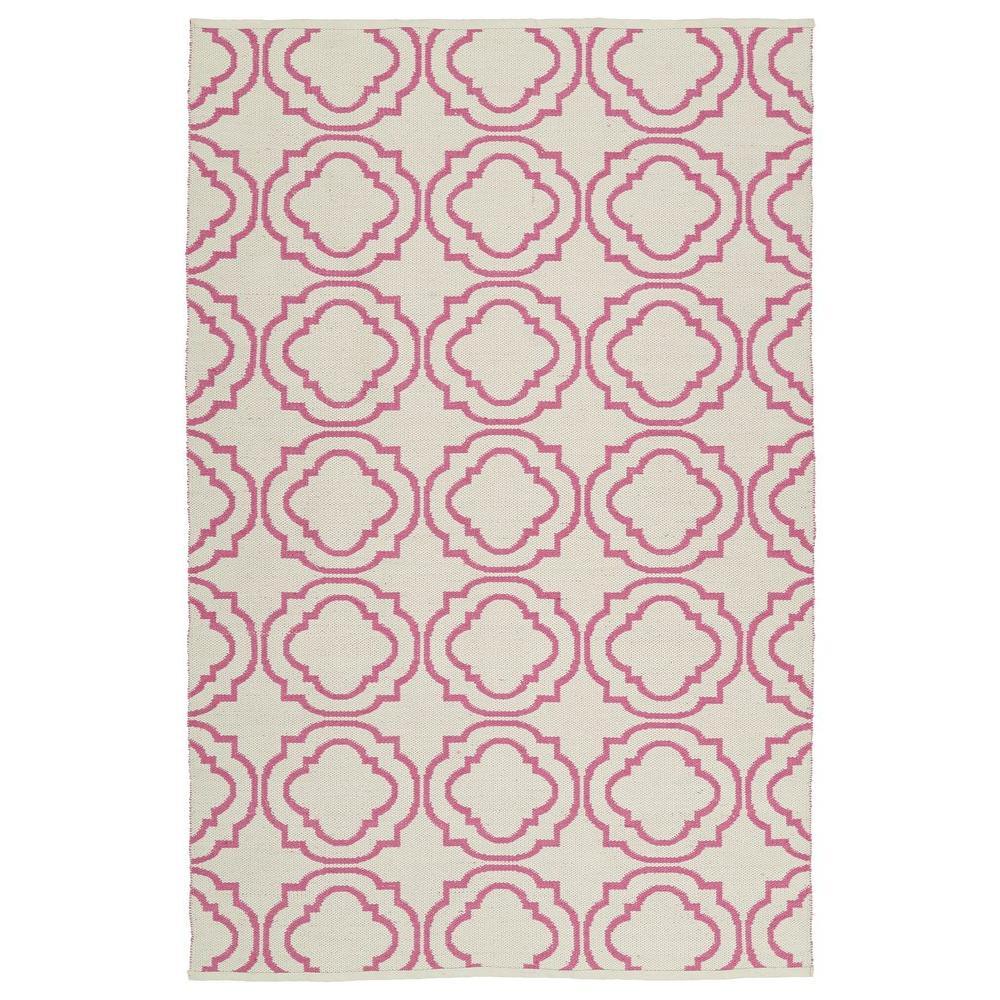 Brisa Pink 3 ft. x 5 ft. Indoor/Outdoor Reversible Area Rug