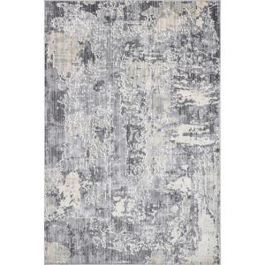 Levitan Abstact Silver 8 ft. x 10 ft. Area Rug
