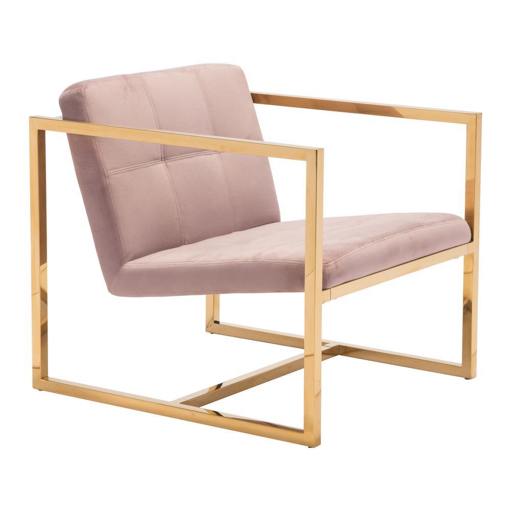 Alt Pink Velvet Arm Chair