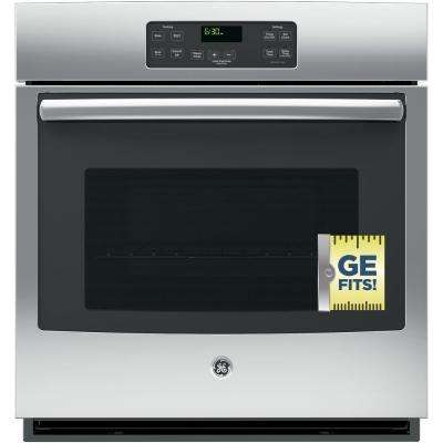 27 in. Single Electric Wall Oven Standard Cleaning with Steam in Stainless Steel