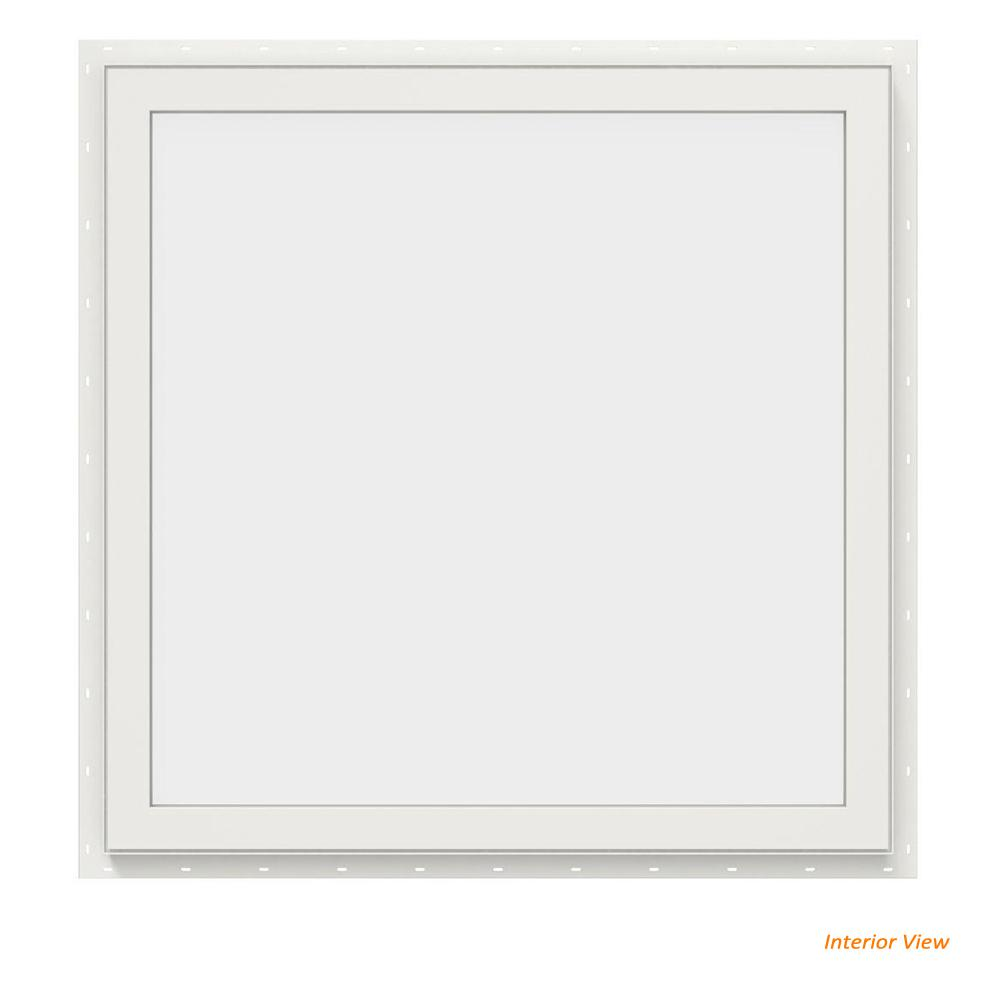 29.5 in. x 29.5 in. V-2500 Series White Vinyl Picture Window