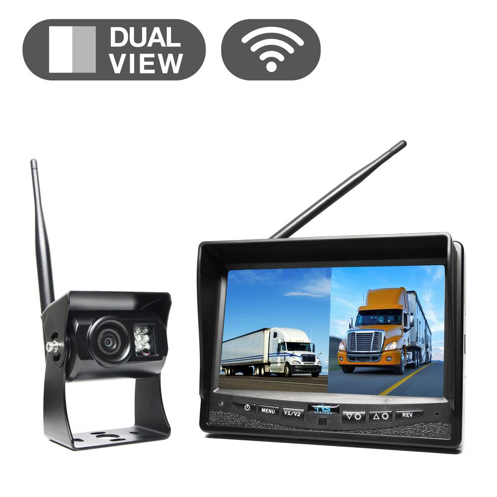 Wireless Backup Camera System with 7 in. Dual Screen Display-RVS ...