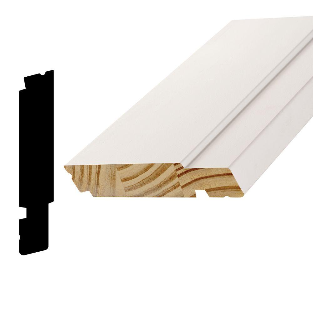 Alexandria Moulding AMC 1500 1-1/4 in. x 6-3/4 in. x 96 in. Pine Primed Finger-Joint Sill Moulding