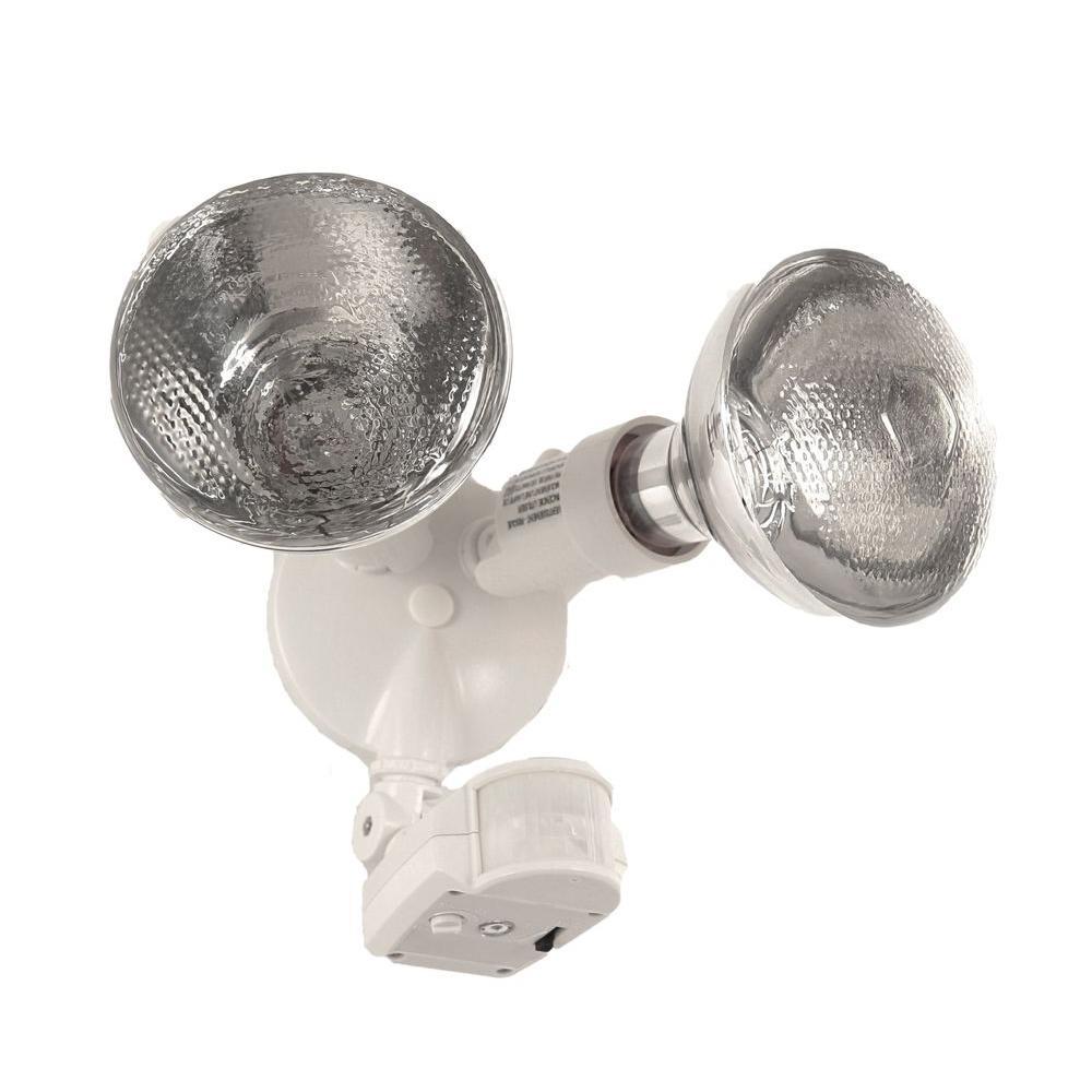 150-Watt Outdoor 180 Degree Detection Motion Sensor - White