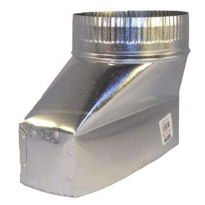 10 in. x 3.25 in. x 6 in. Galvanized Sheet Metal Range Hood Straight Boot Adapter
