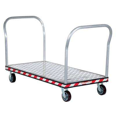 30 in. x 60 in. Aluminum Treadplate Platform Trucks with Double Handles