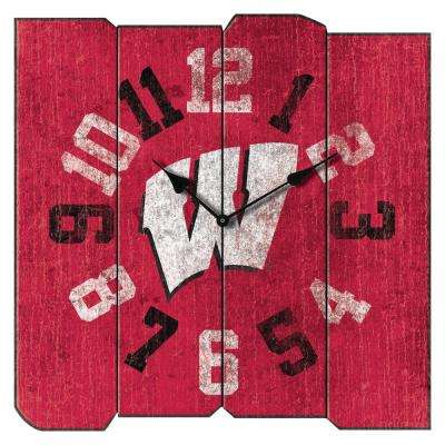 University of Wisconsin Vintage Square Clock