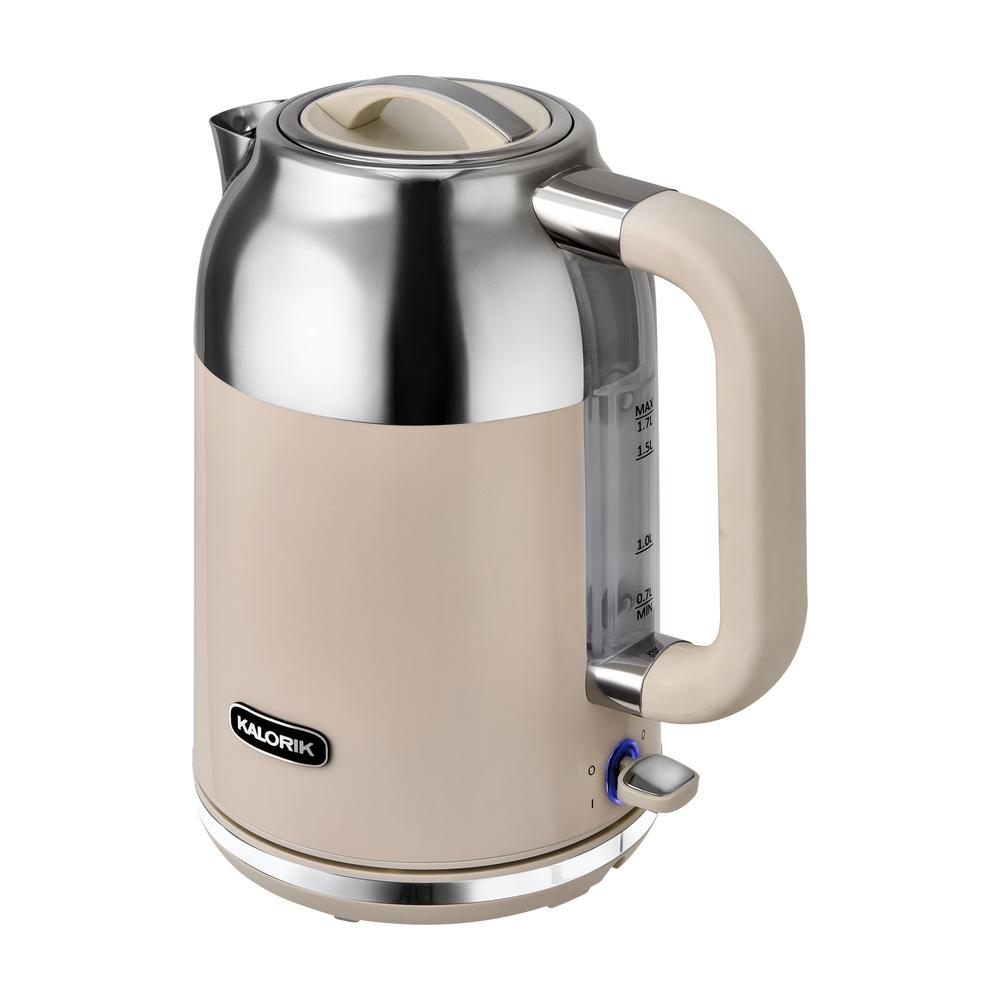 Retro 7-Cup Cream Cordless Electric Kettle