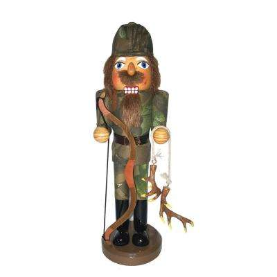 14 in. Bow Hunter Nutcracker with Bow