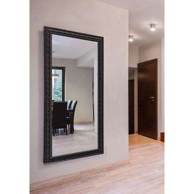 70 in. x 35 in. Dark Embellished Vanity Wall Mirror