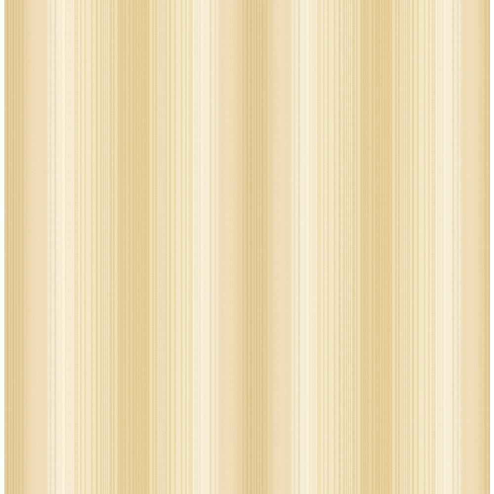 Seabrook Designs Feldspar Metallic Gold and Off-White Vertical Stripe Wallpaper