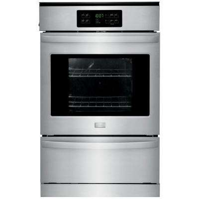 24 in. Single Gas Wall Oven Self-Cleaning in Stainless Steel