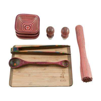 Pakka 9-Piece Red Bar Set