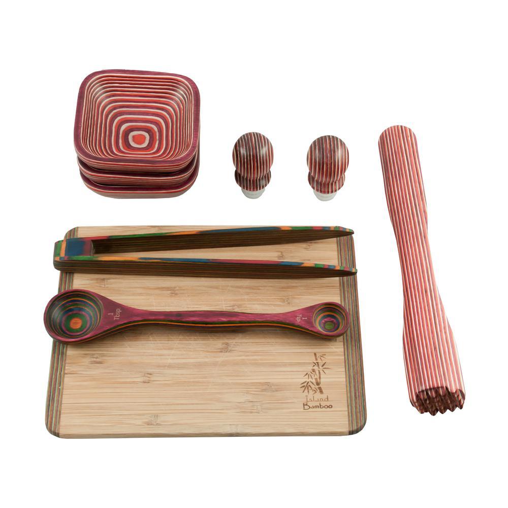 Pakka 9-Piece Red Bar Set