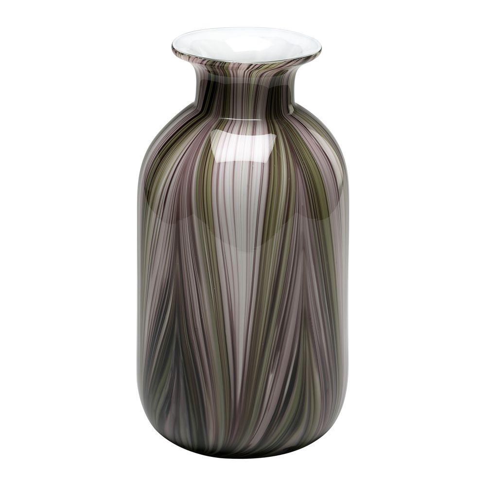 Filament Design Prospect 16 in. x 4 in. White And Green Vase