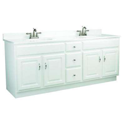 Concord 72 in. W x 21 in. D Unassembled Vanity Cabinet Only in White Gloss