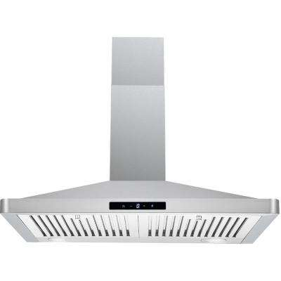 30 in. Under Cabinet Range Hood in Stainless Steel with Aluminum Mesh Filters, LED lights, Push Button Control