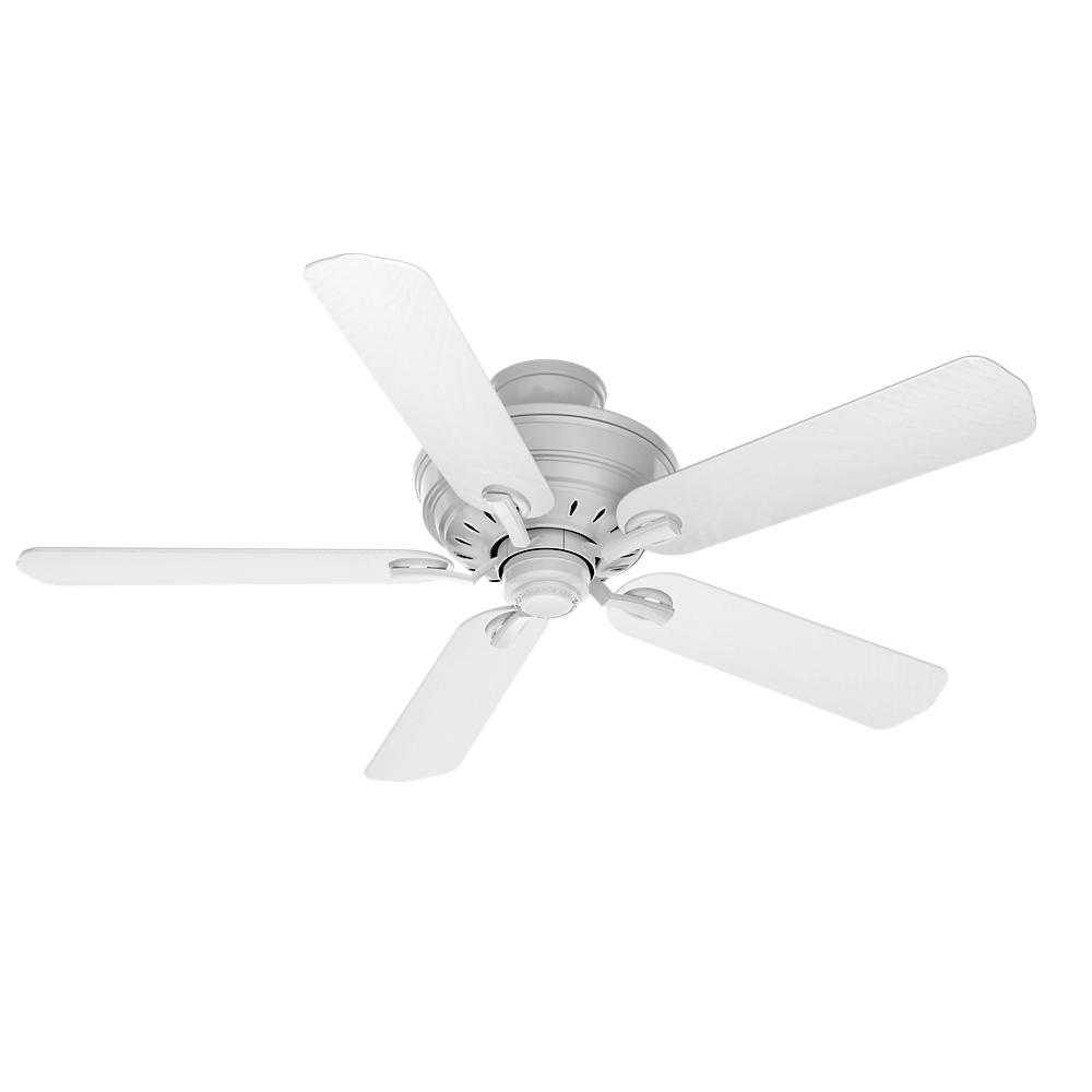 Adelaide 54 in. Indoor Snow White Ceiling Fan with Matte Snow