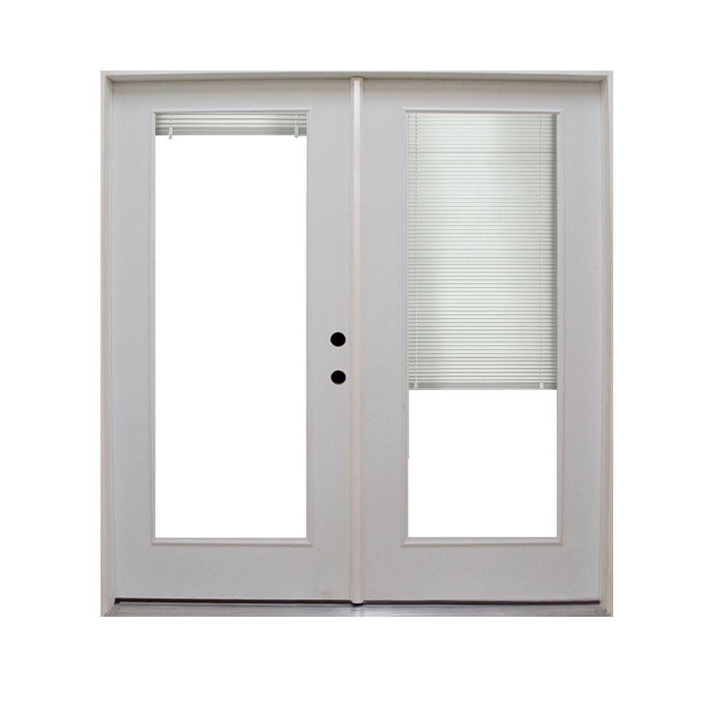 Steves sons 60 in x 80 in retrofit prehung left hand for Home depot prehung french doors