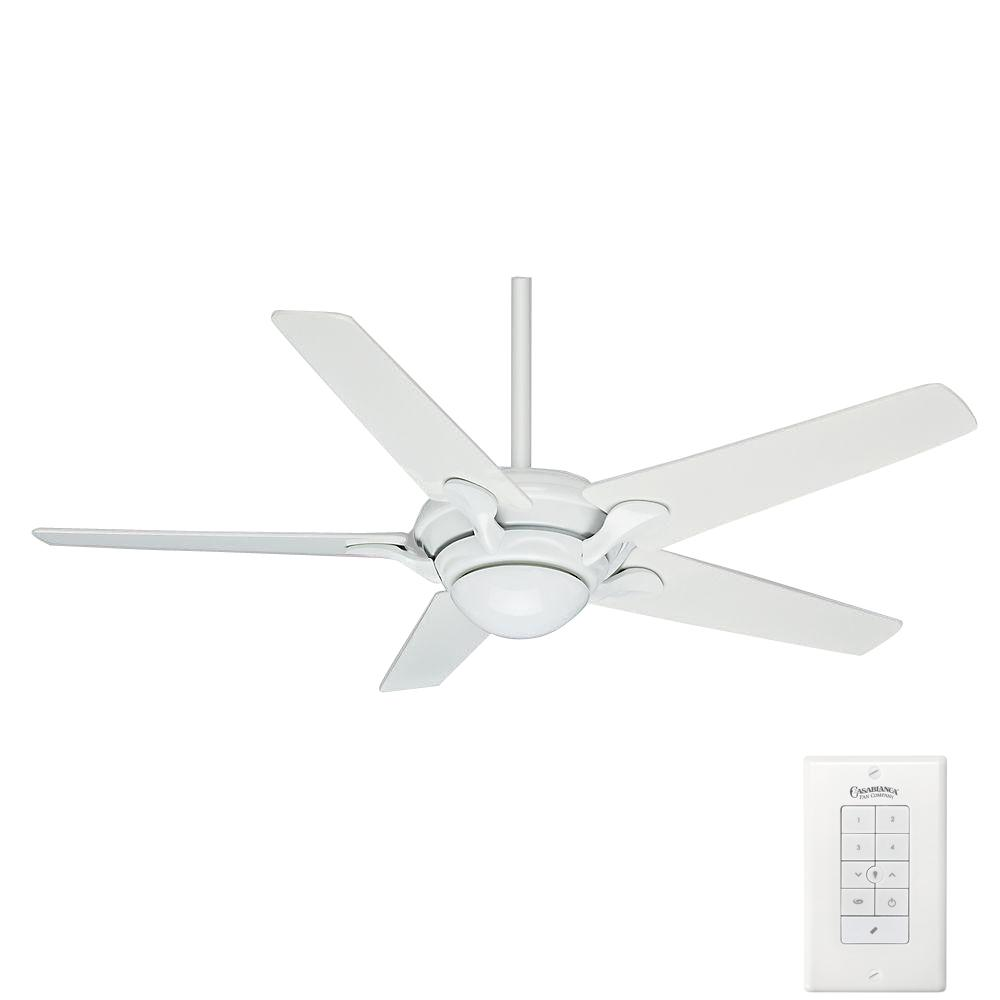 Bel Air 56 in. Indoor Snow White Ceiling Fan with Wall