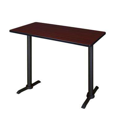 Cain Mahogany 48 in. W Cafe High Training Table