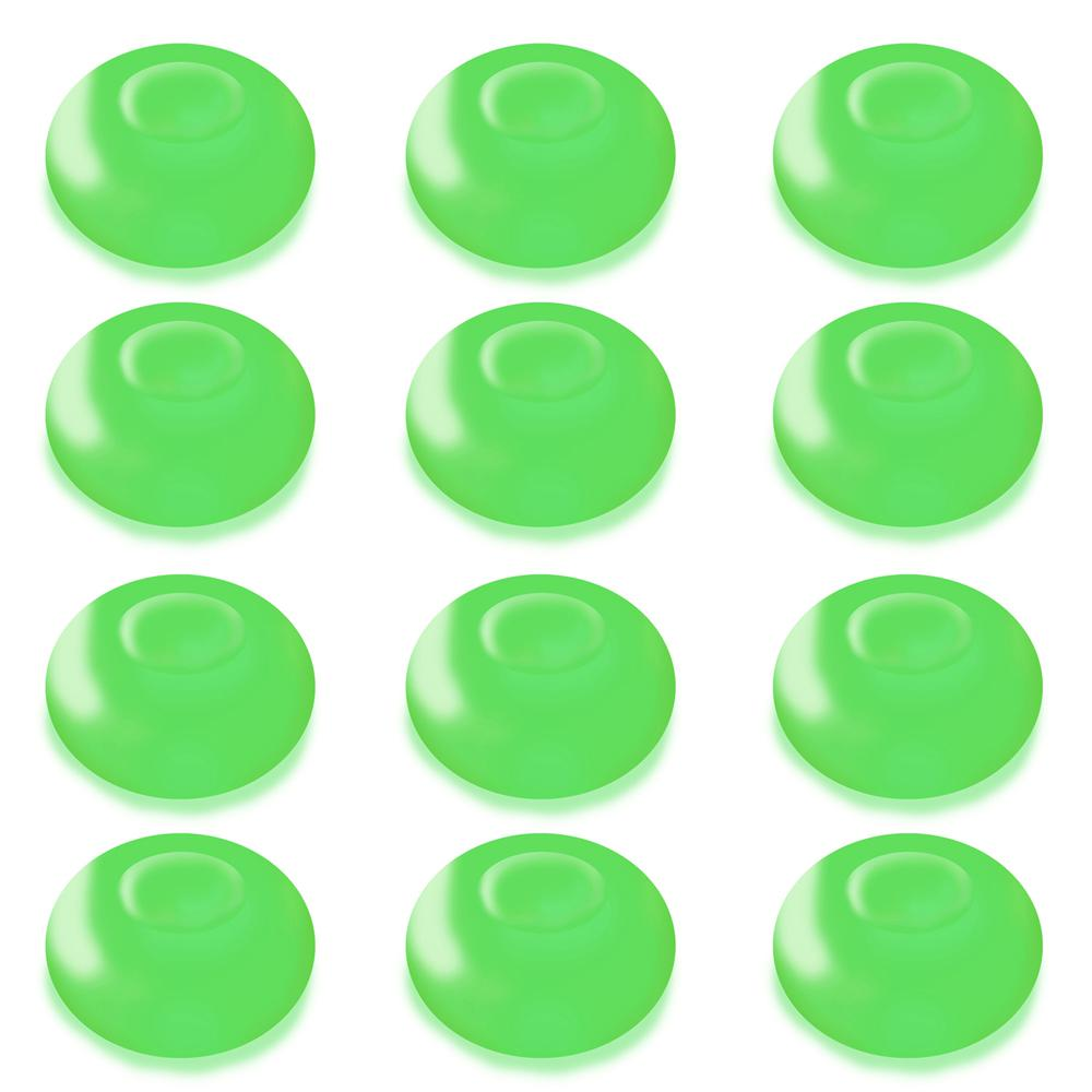 Lumabase 1.25 in. D x 0.875 in. H x 1.25 in. W Green Floating Blimp Lights (12-Count)