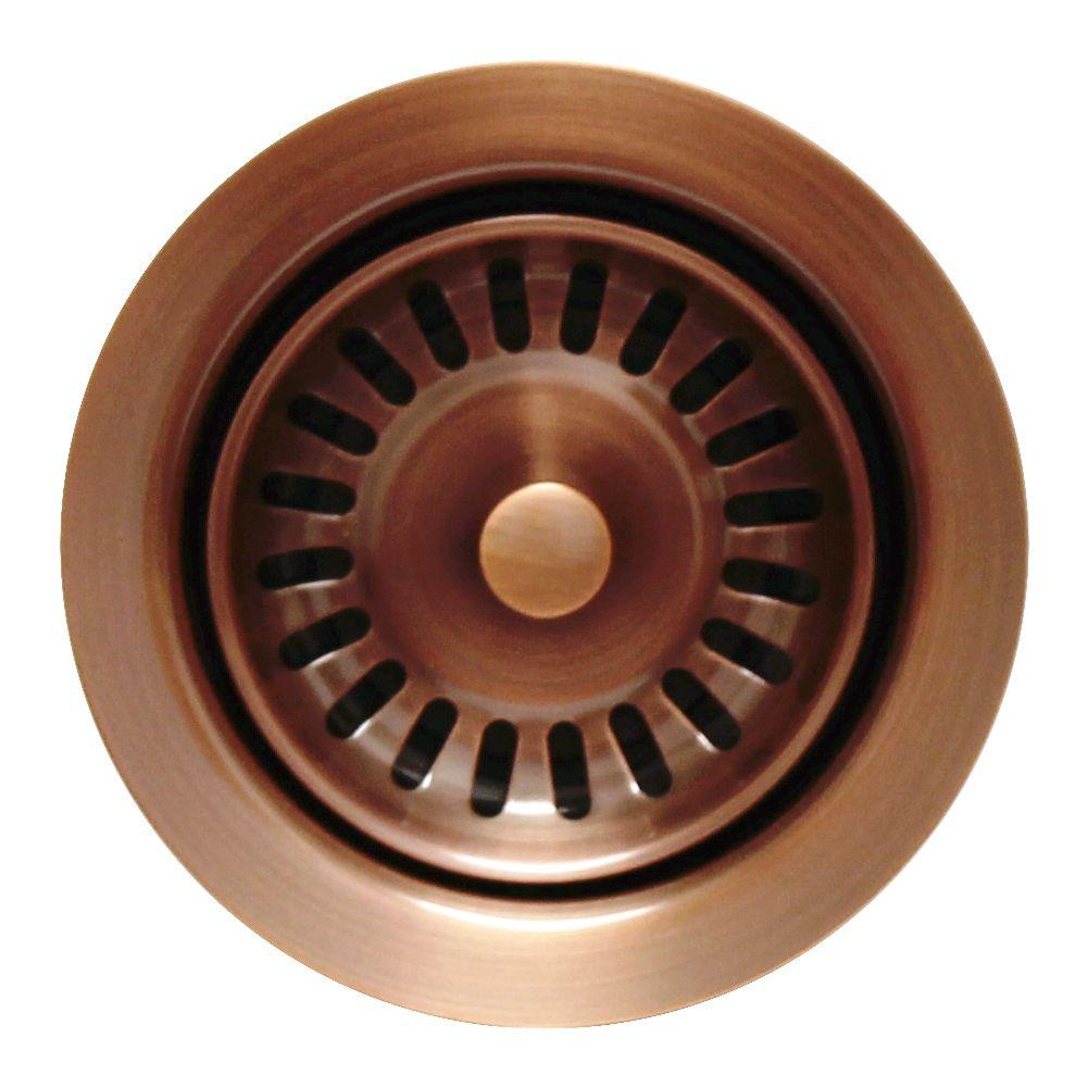 Whitehaus collection 3 5 in garbage disposal trim in antique copper wh202 aco the home depot - Copper wastebasket ...
