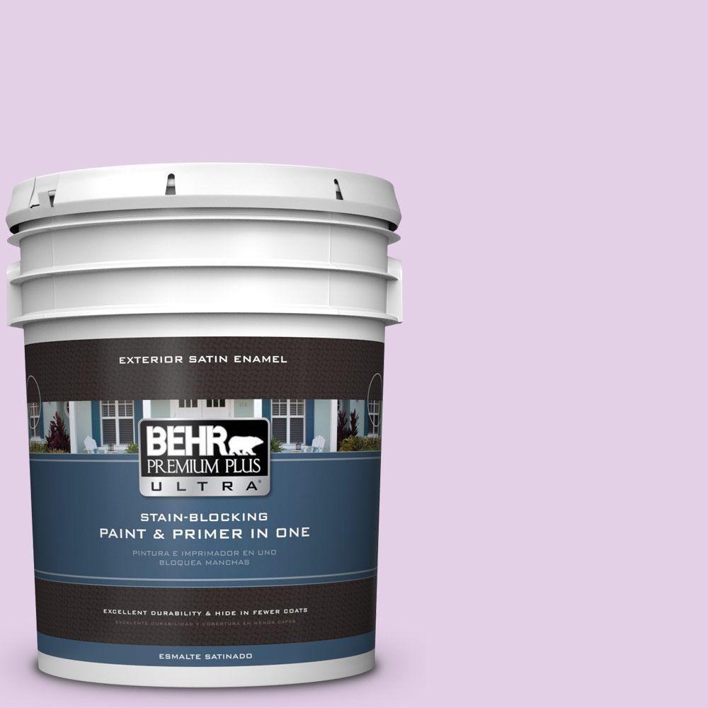 BEHR Premium Plus Ultra 5-gal. #P100-2 Sweet Romance Satin Enamel Exterior Paint
