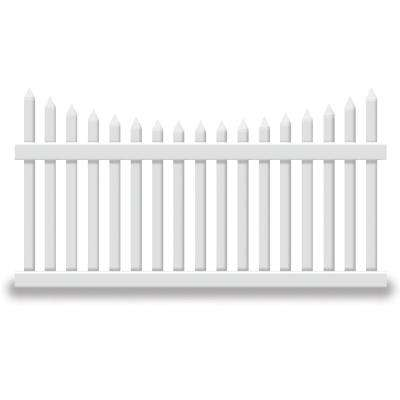 Hampshire 4 ft. H x 8 ft. W White Vinyl Picket Fence Panel