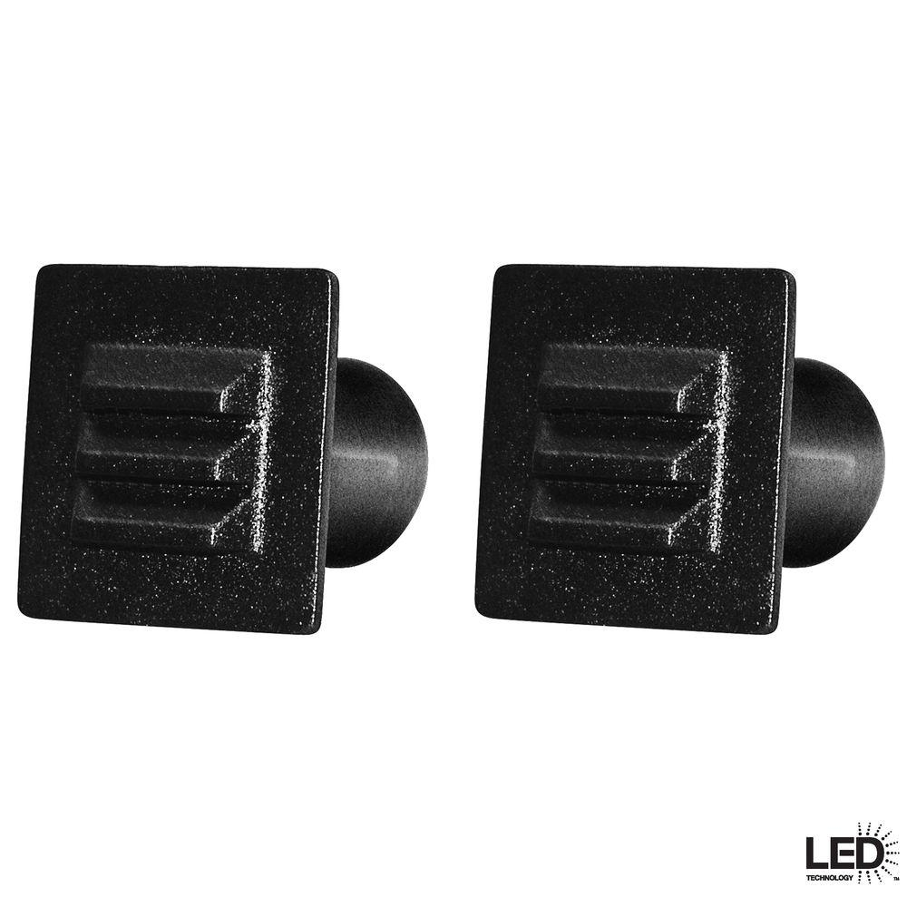 12 Volt Led Lights For Homes: Hampton Bay 12-Volt Low-Voltage Black LED Square Deck