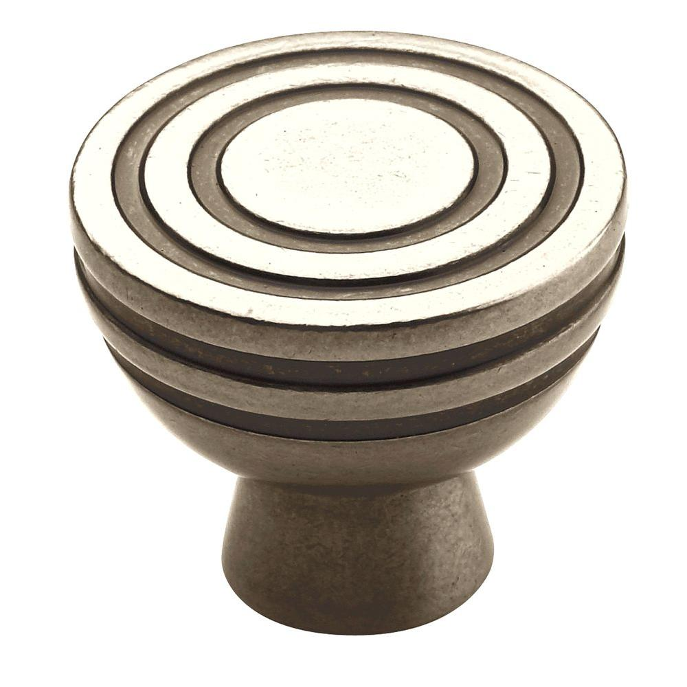 Amerock Galleria Sonora 1-1/4 in. Antique Nickel Cabinet Knob