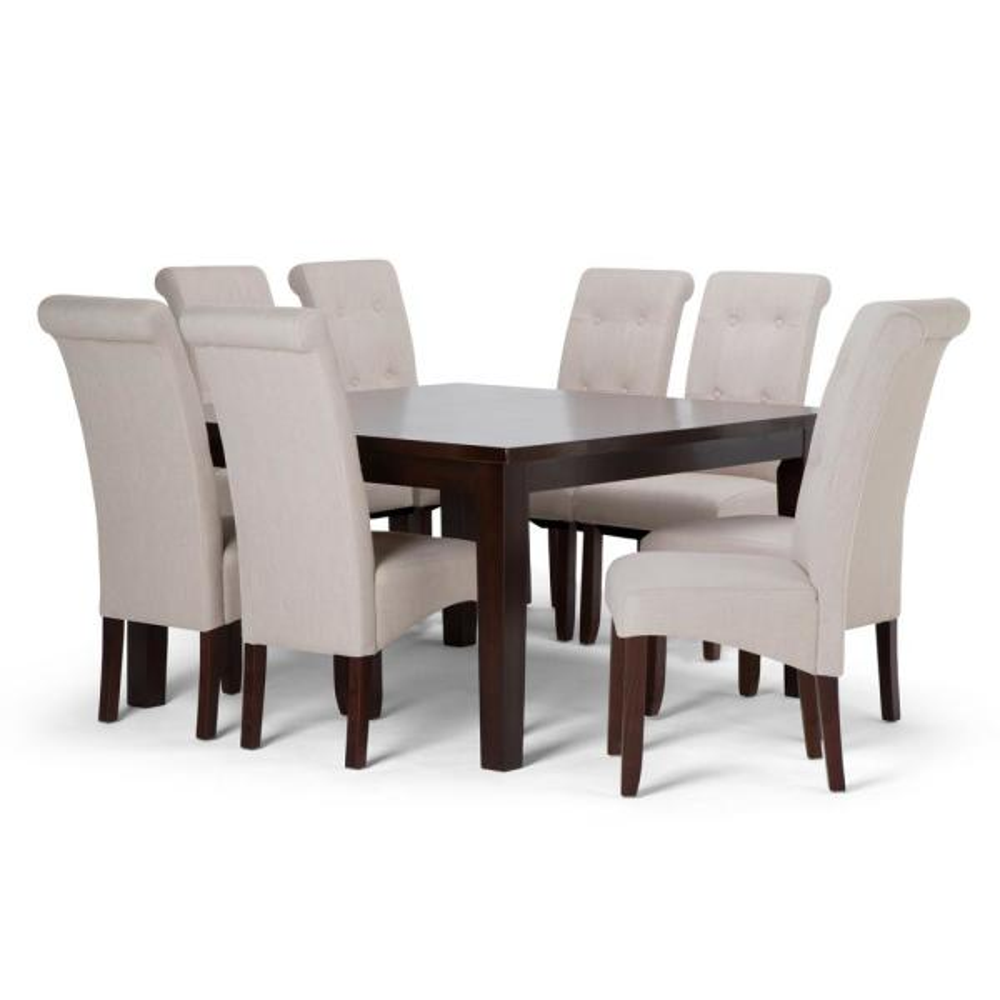 Simpli Home Cosmopolitan 9-Piece Dining Set with 8 ...