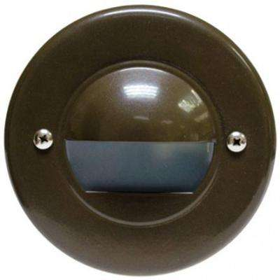 Ashler 1-Light Bronze Outdoor Recessed Step Light