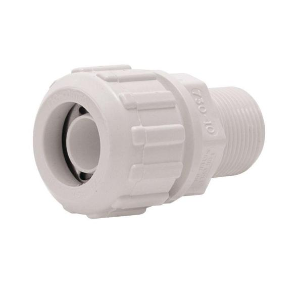 FloLock 1 in. PVC Compression Male Adapter