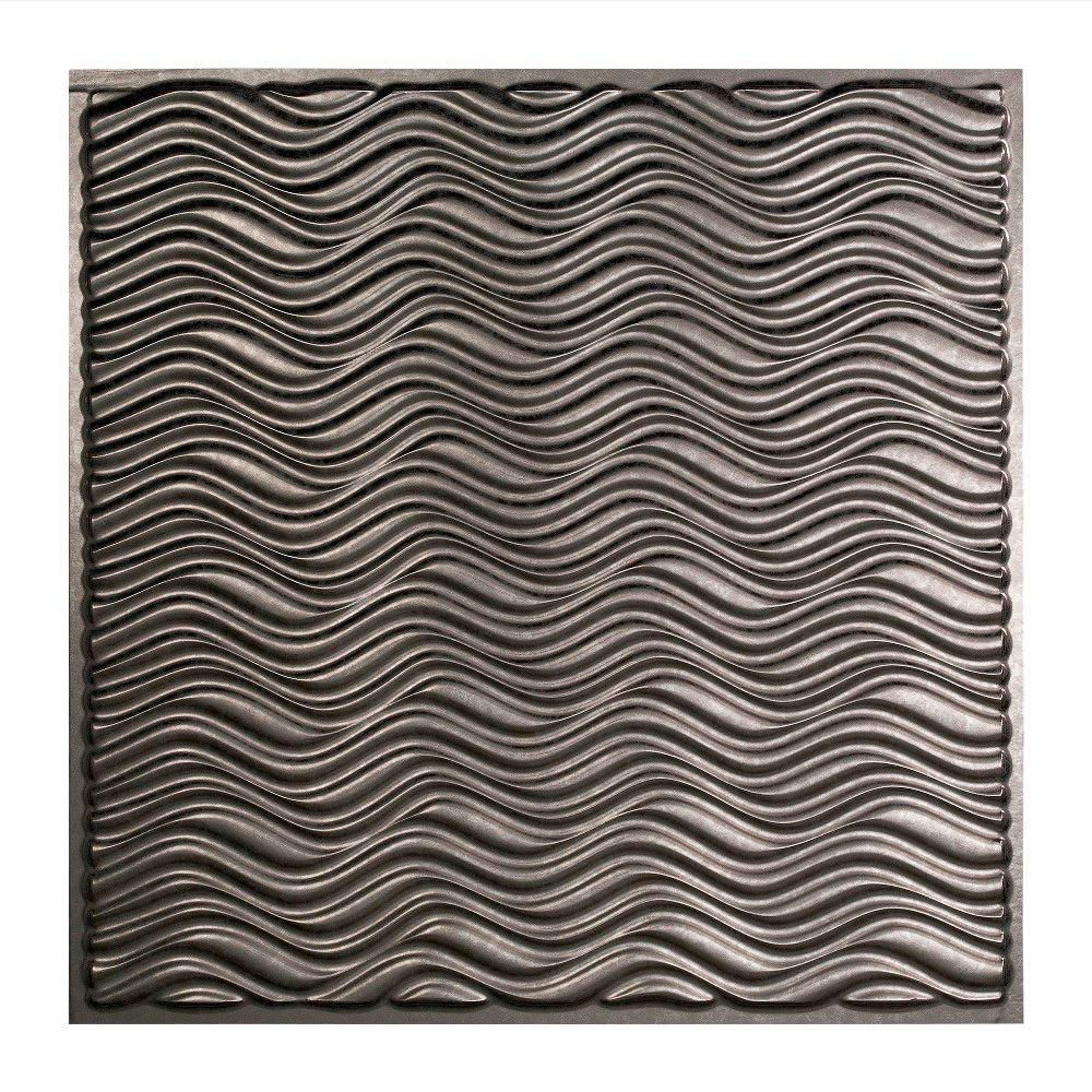 Fasade Current - 2 ft. x 2 ft. Lay-in Ceiling Tile in Galvanized Steel