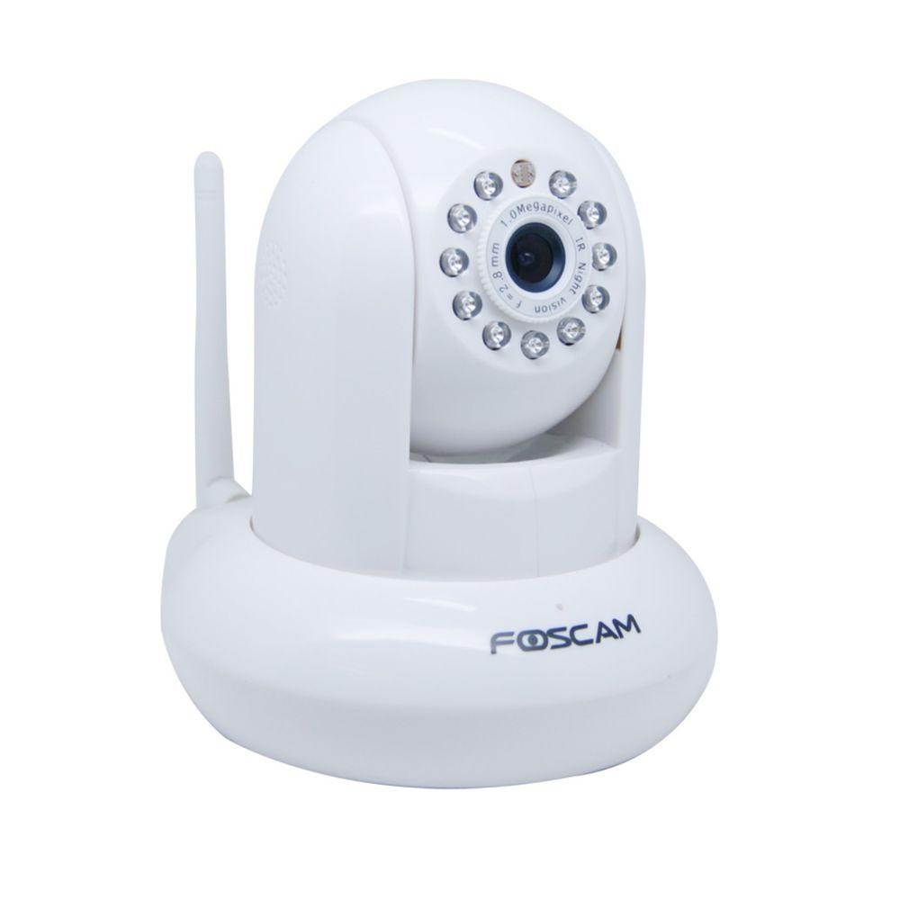Foscam Wireless 720p Indoor Plug and Play IP Video Surveillance Camera - White