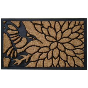 A1HC First Impression Hummingbird 18 inch x 30 inch Rubber and Coir Door Mat by