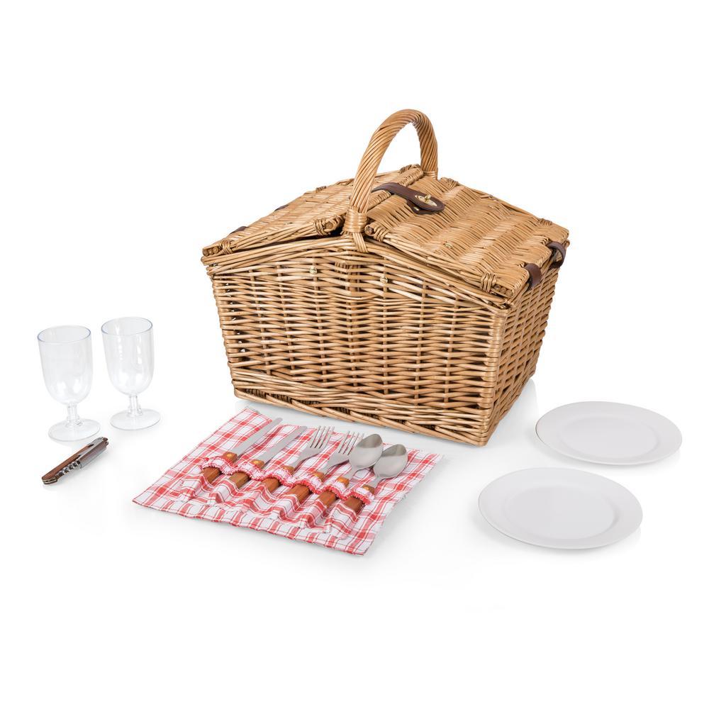 Piccadilly Natural Wood Picnic Basket