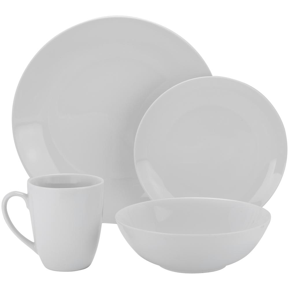 10 Strawberry Street 16-Piece White Coupe Dinnerware Set  sc 1 st  Home Depot & 10 Strawberry Street 16-Piece White Coupe Dinnerware Set-SM-1600-CP ...