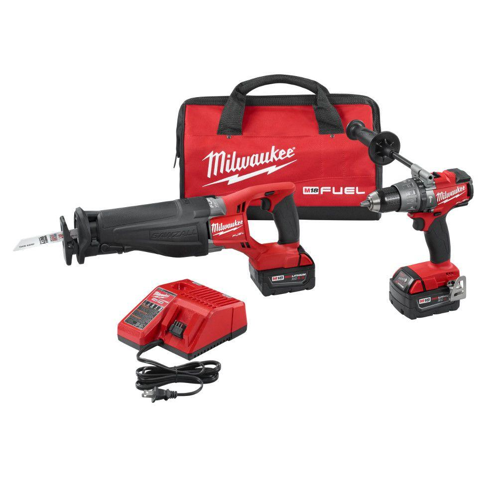 M18 FUEL 18-Volt Lithium-Ion Cordless Hammer Drill/SAWZALL Reciprocating Saw