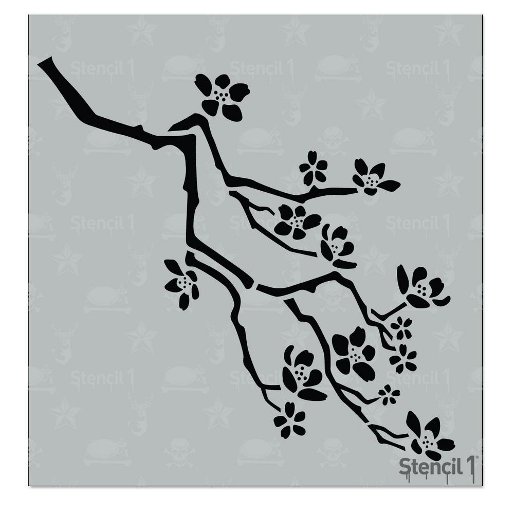 Stencil1 Cherry Blossom Small Stencil S1 Pa 69s The Home