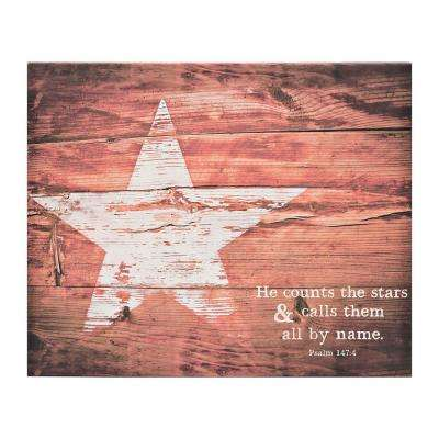 "The Canvas Collection ""He Counts the Stars"" by Carpentree Printed Canvas Wall Art"
