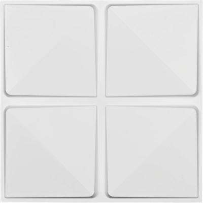 1 in. x 19-5/8 in. x 19-5/8 in. White PVC Edinburgh EnduraWall Decorative 3D Wall Panel