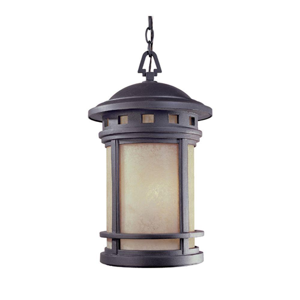 Sedona 3-Light Oil Rubbed Bronze Outdoor Hanging Lantern