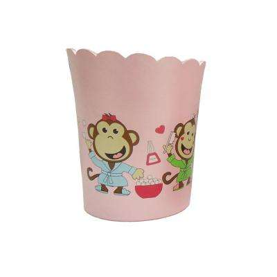 Slumber Party Collection 7 in. Wastebasket in Pink with Multicolor Details