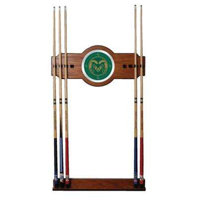 Colorado State University 30 in. Wooden Billiard Cue Rack with Mirror