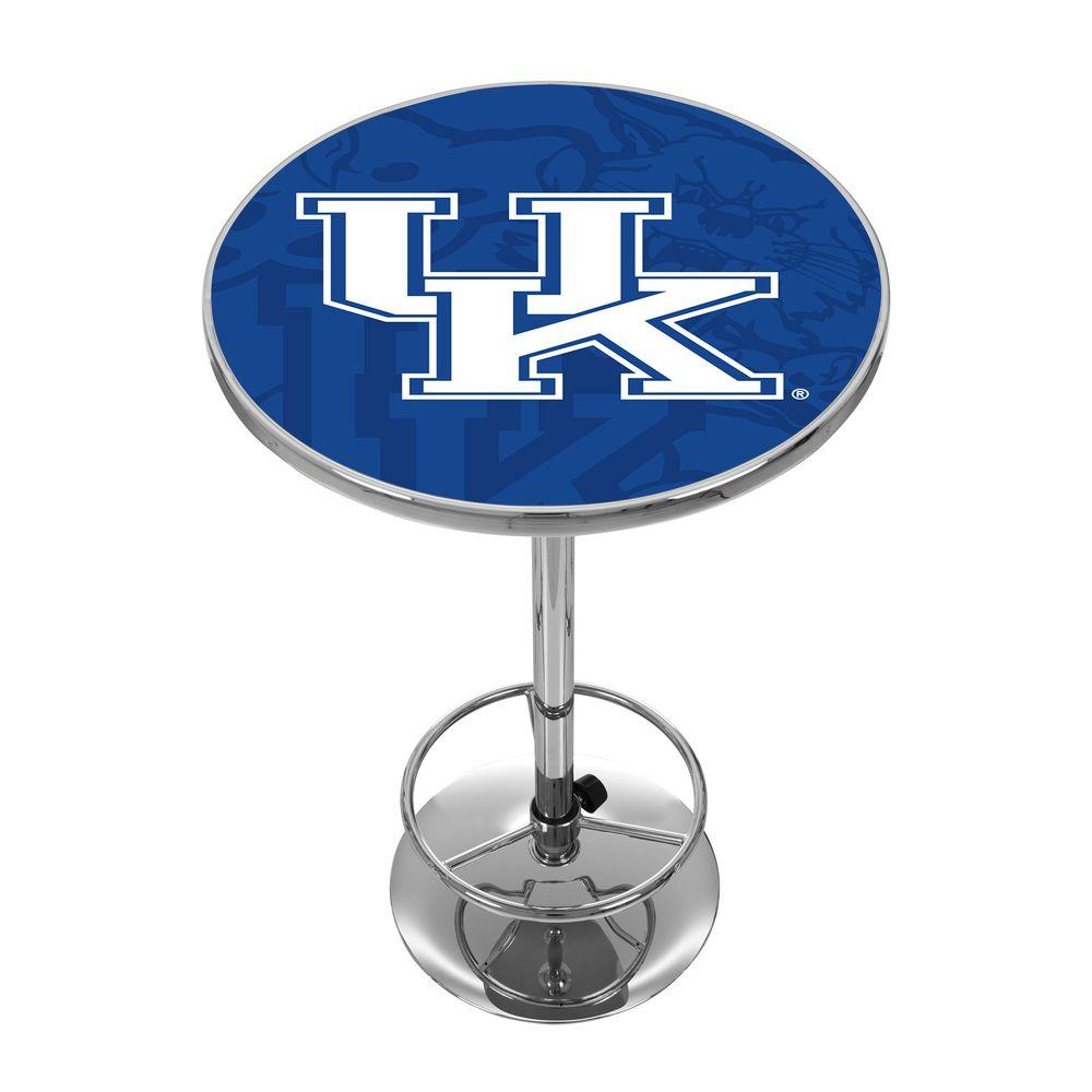 University of Kentucky Fade Chrome Pub/Bar Table