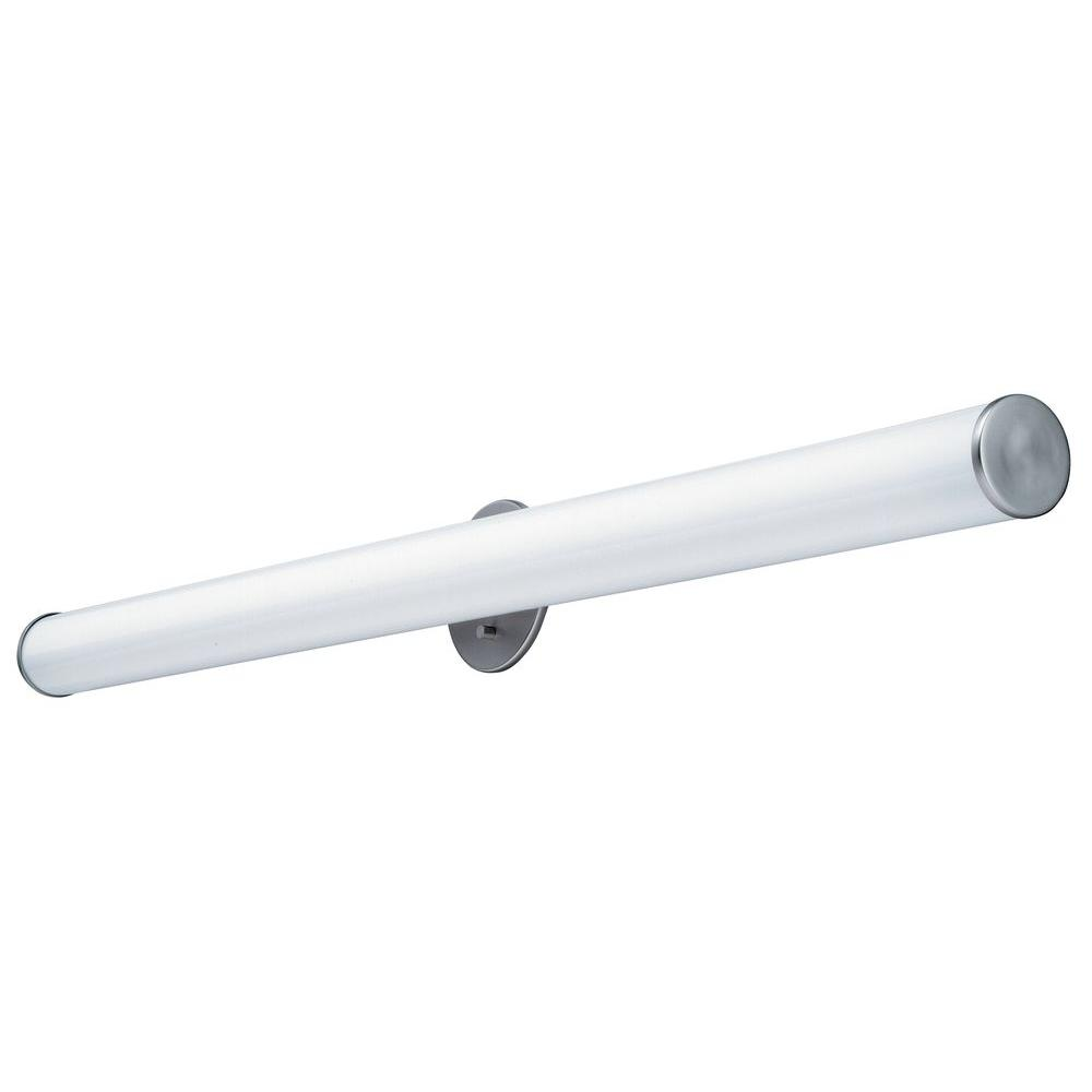 Lithonia Lighting 2-Light Brushed Nickel Fluorescent Cylinder Vanity ...